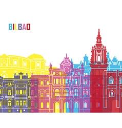 Bilbao skyline pop vector image vector image