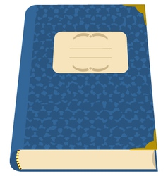 book or a notebook vector image