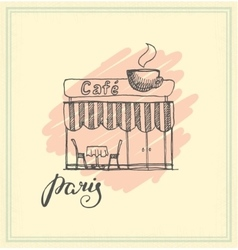 French Street Cafe Hand drawn vector image vector image
