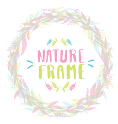 nature frame for your design with flowers vector image vector image