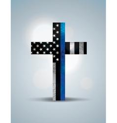 Police Flag Cross vector image
