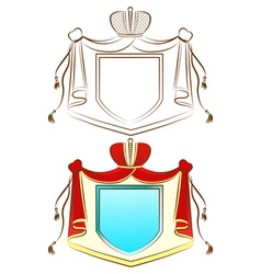 royal shield vector image