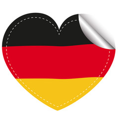 sticker design for flag of germany vector image