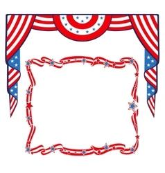 US Flag patriotic border template vector image