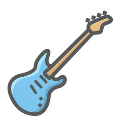 bass guitar filled outline icon music vector image vector image
