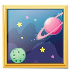 Planets cartoon vector image vector image