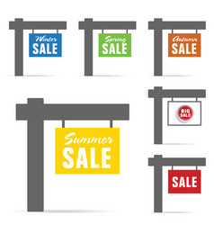 signboard of sale set vector image vector image