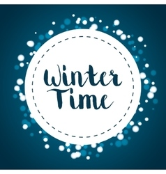 Winte time and snow vector image