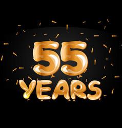 55 years golden anniversary logo celebration vector image