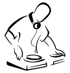 DJ behind console vector image vector image