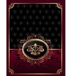golden ornate frame with emblem - vector image vector image