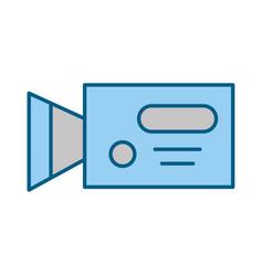 professional recording camera vector image