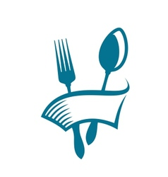 Restaurant or eatery icon vector image