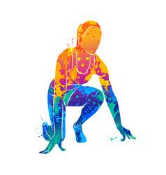 running sprinter athlete vector image vector image
