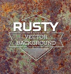 Rusty metal background vector image vector image
