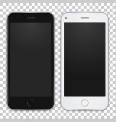set of black and white smart phone to present your vector image vector image