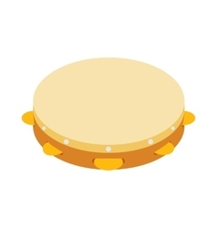 Tambourine icon isometric 3d style vector image vector image