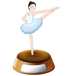 A ballet dancer above the trophy stand with an vector image