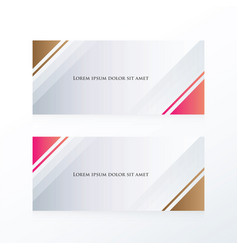 Abstract banner triangle pink brown vector