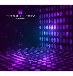 Abstract hexagonal background Retro disco stage vector