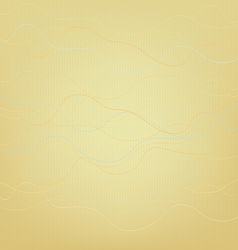 Abstract yellow background with wavy lines vector