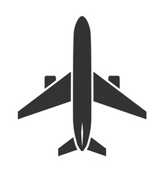 airplane black icon flight and transport symbol vector image
