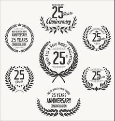 Anniversary laurel wreath 25 years vector