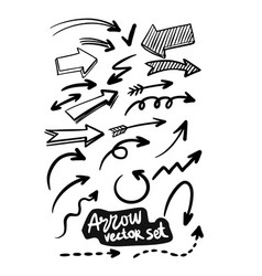 arrows abstract doodle design collection vector image