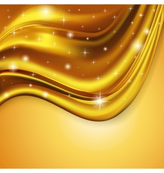 Background fabric satin gold vector