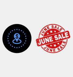 bank placement icon and distress june sale vector image