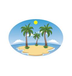 Beach island cartoon vector