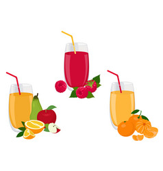 berry and fruit smoothie healthy juicy vitamin vector image