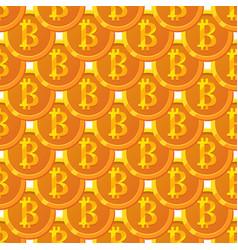 bitcoin paattern vector image