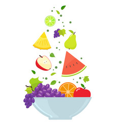 bowl with fruits vector image