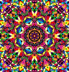 bright seamless kaleidoscope pattern vector image