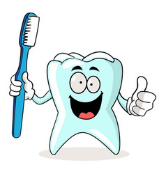 brush your teeth vector image