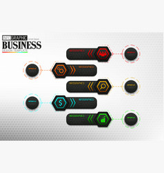 business info graphic timeline process template vector image