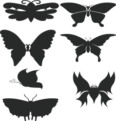 Butterfly shiluettes vector