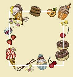 cafe bar banner dessert background vector image