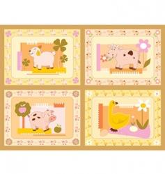 cheerful animals vector image