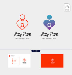 Children care baby care logo template vector