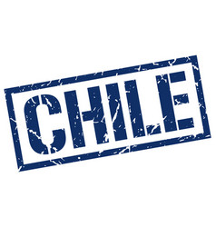 Chile blue square stamp vector