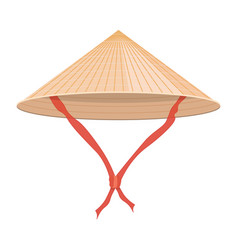 Chinese conical straw hat vector