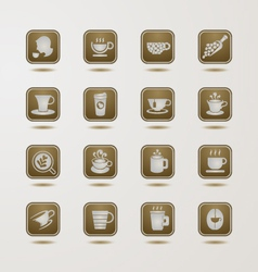 Coffee cup icons set vector image