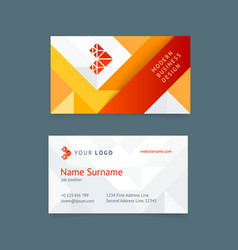 creative business card template vector image