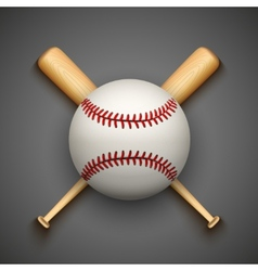 dark background baseball leather ball and vector image