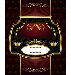 decorative gold frame label - vector image vector image