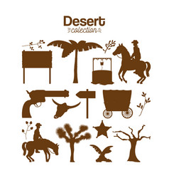 desert collection set vector image