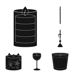 Design candlelight and decoration icon vector
