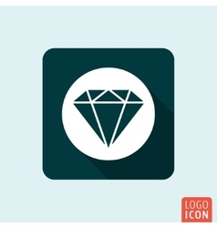 Diamond icon isolated vector